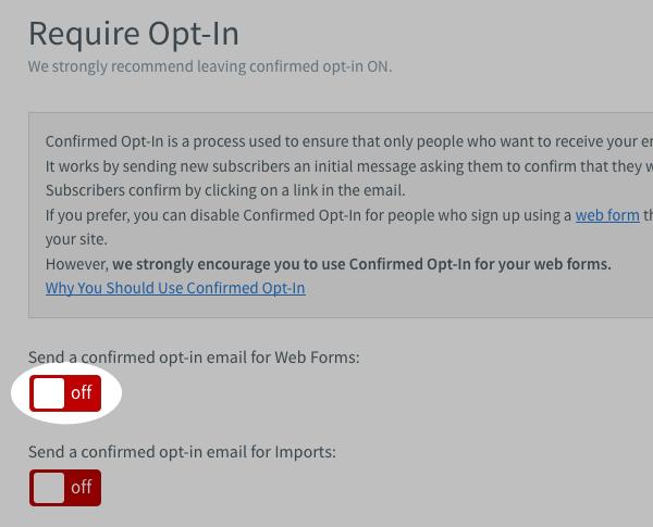 Confirmed Optin Aweber - Tutorial Step 4