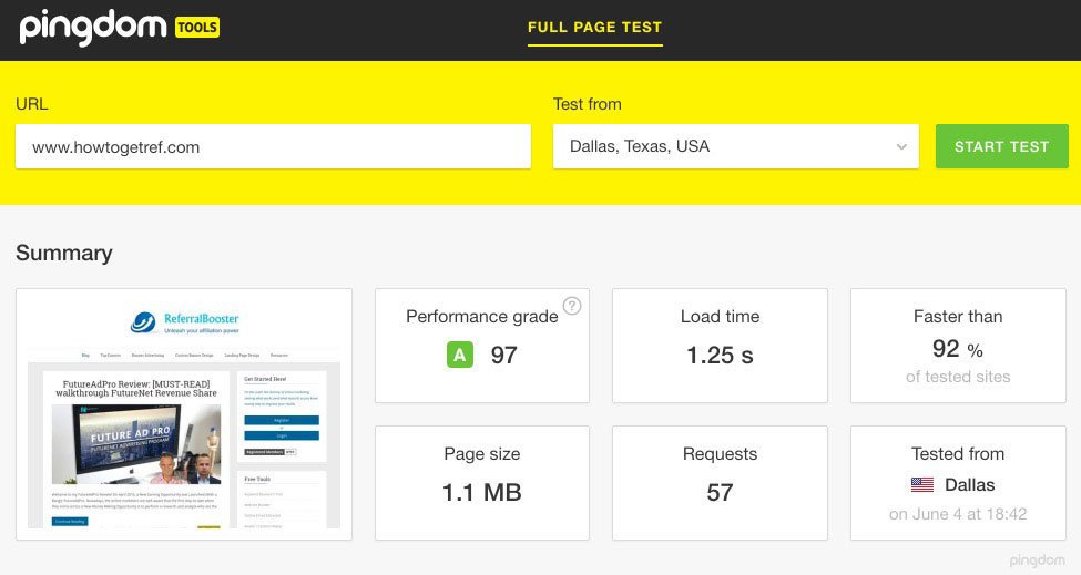 Siteground Website Speed Test