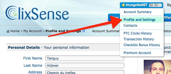 Clixsense Password Update