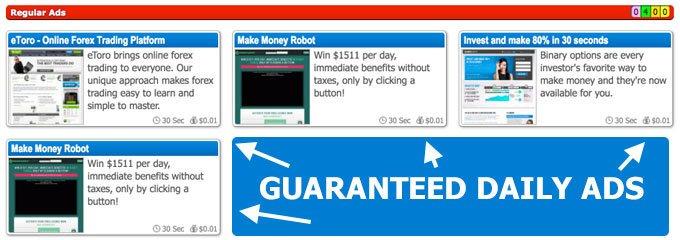 Clixsense Guaranteed Daily Ads