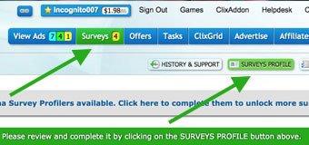Clixsense Survey Profile