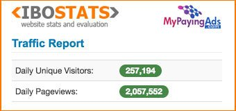 MyPayingAds Daily Unique Visitors