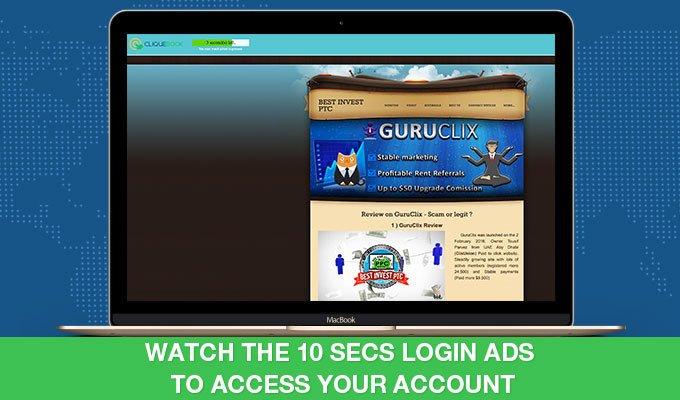 Cliquebook - Login Ads