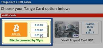 Clixsense - Tango Bitcoin e-Gift Card